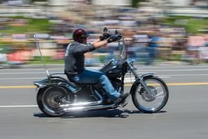 A Motorcyclist Participates in the Rolling Thunder Memorial Day Parade in Washington, Dc by Greg Dale
