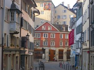 A Steet in Zurich's Old Town in the Morning by Greg Dale