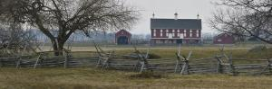 Barn, Field and Fences at Gettysburg National Battlefield by Greg Dale