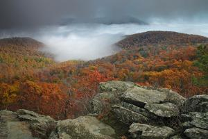 Fall Colors from Bearfence Mountain's Rocky Peak by Greg Dale