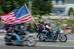 Motorcyclists Participate in the Rolling Thunder Memorial Day Parade in Washington, Dc by Greg Dale