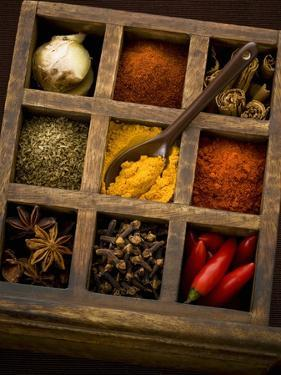 Assorted Spices in Type Case by Greg Elms