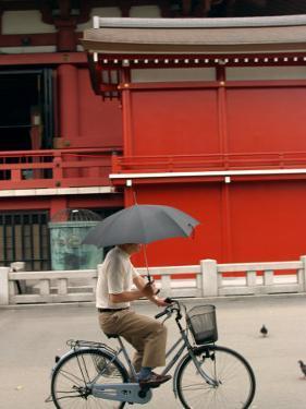 Bike Rider, Senso-Ji Temple, Asakusa, Tokyo, Japan by Greg Elms