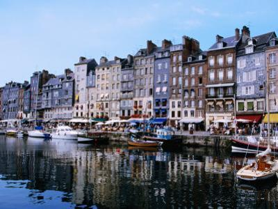 Boats and Buildings Reflected in Vieux Bassin, the Old Harbour., Honfleur, Basse-Normandy, France by Greg Elms