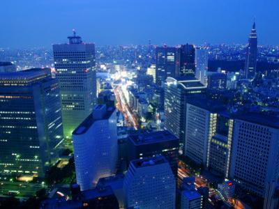 City Skyline from Sky Bar, Park Hyatt Tokyo, Tokyo, Japan by Greg Elms