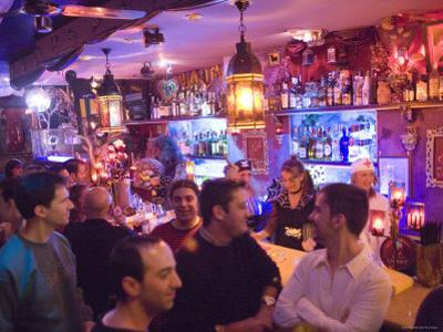 Customers in Maruja Limon Bar, Valencia City, Valencia, Spain by Greg Elms