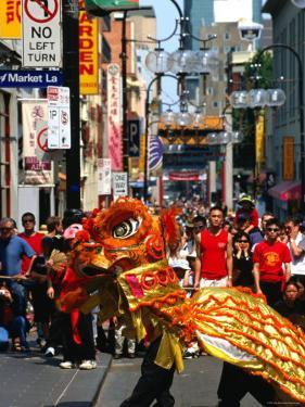 Dragon Dance During Chinese New Year, Chinatown, Melbourne, Victoria, Australia by Greg Elms