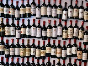 Fridge Magnet Wine Bottles., St. Emilion, Aquitaine, France by Greg Elms
