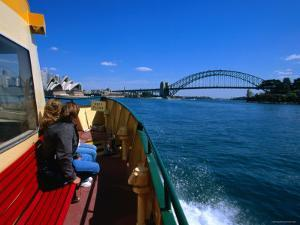 Manly Ferry Returning to the City, Sydney, New South Wales, Australia by Greg Elms