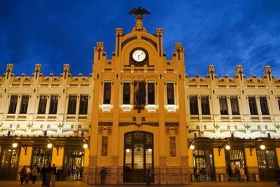 Modernista Facade of Estacion Del Norte (North Train Station), Valencia, Spain, Europe by Greg Elms