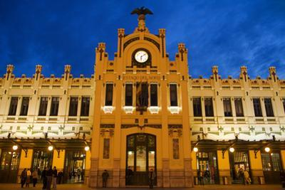 Modernista Facade of Estacion Del Norte (North Train Station), Valencia, Spain, Europe by Greg Elms