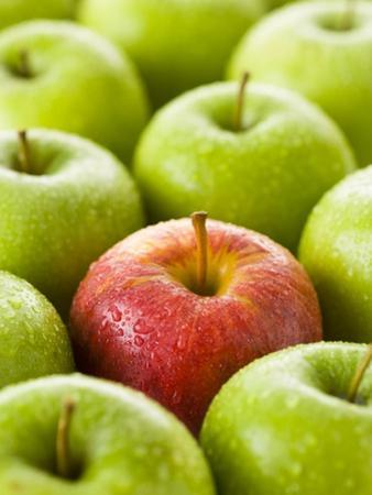 One Red Apple Among Green Apples by Greg Elms