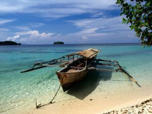 Remote Beach on Pulau Togean, Togian, Central Sulawesi, Indonesia by Greg Elms