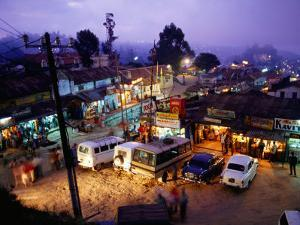 Shops and Stalls at Dusk, Kodaikanal, Tamil Nadu, India by Greg Elms