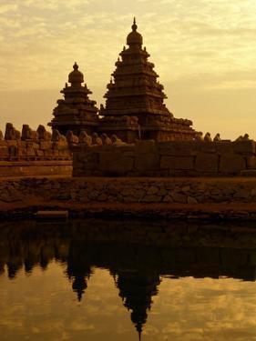 Shore Temples Reflected in Pond, Mamallapuram, Tamil Nadu, India by Greg Elms