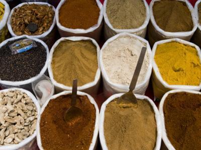 Spices for Sale, Anjuna Market by Greg Elms