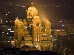 Sveti Marko Orthodox Church at Night, Central Belgrade by Greg Elms