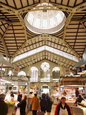 Valencia's Modernista Covered Market, La Seu and El Mercat, Valencia, Spain by Greg Elms