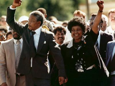 Nelson Mandela and Winnie Mandela by Greg English