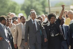 Nelson Mandela and Winnie Mandela by Greg English