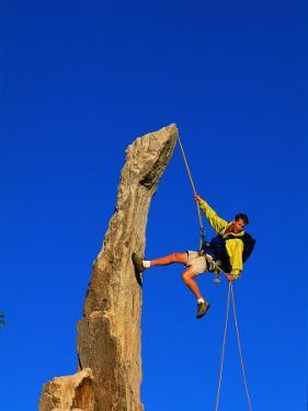 Man Rock Climbing, Joshua Tree National Park, CA by Greg Epperson