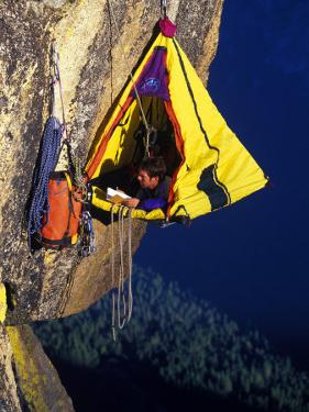 Rock Climber Resting off Rock by Greg Epperson