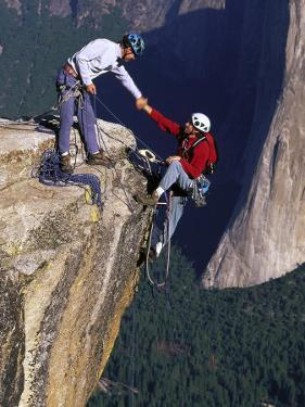 Rock Climbers, Summit of Taft Point, Yosemite by Greg Epperson