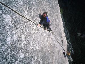 Two Men Rock Climbing, Yosemite National Park, CA by Greg Epperson