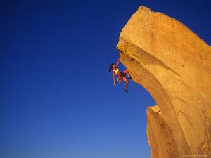 Woman Rock Climber by Greg Epperson