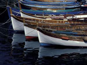 Boats in Harbor, Cinque Terre, Italy by Greg Gawlowski