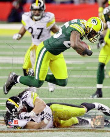 Greg Jennings Action from Super Bowl XLV
