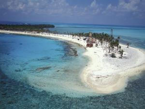Aerial View of Lighthouse Reef, Belize by Greg Johnston