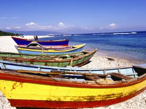 Fishing Boats on Beach by Greg Johnston
