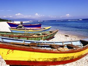 Fishing Boats on Beach by Greg Johnston