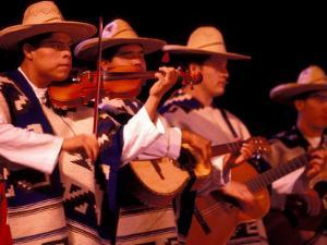 Folkloric Dance Show at the Teatro de Cancun, Mexico by Greg Johnston