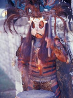 Mayan Rituals and Mystical Dances, Xcaret, Yucatan Peninsula, Mexico by Greg Johnston