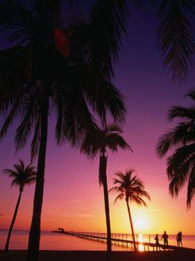 Sunset on the Coastal Isle of Youth, South Side of Cuba, Havana, Cuba by Greg Johnston