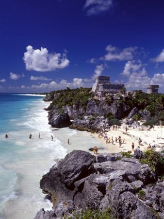 View of the Mayan site of Tulum, Yucatan, Mexico by Greg Johnston
