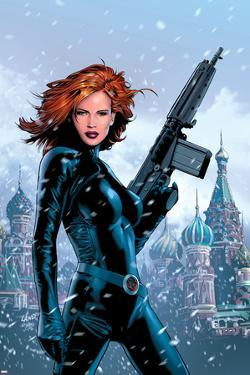 Black Widow No.1 Cover: Black Widow Fighting by Greg Land