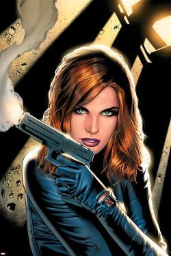 Black Widow No.2 Cover: Black Widow Charging by Greg Land