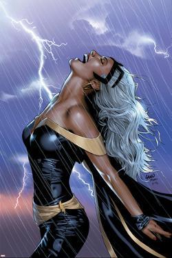 Uncanny X-Men No.449 Cover: Storm Swinging by Greg Land