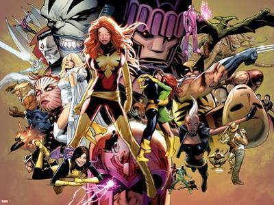 Uncanny X-Men No.544: Dark Phoenix, White Queen, Apocalypse, Sentinel, Magneto, Storm, Wolverine by Greg Land