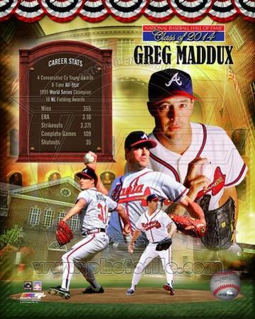 Greg Maddux Atlanta Braves MLB Hall of Fame Legends Composite