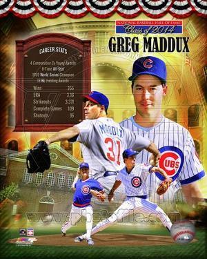 Greg Maddux Chicago Cubs MLB Hall of Fame Legends Composite