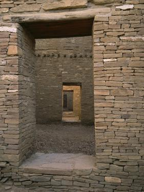Doorway in Pueblo Bonito, Chaco Canyon National Park, New Mexico by Greg Probst