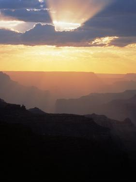 Grand Canyon at Sunset with Clouds, Grand Canyon NP, Arizona by Greg Probst