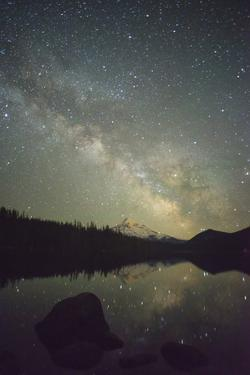 The Milky Way rising over Mt. Hood and Lost Lake, Oregon by Greg Probst