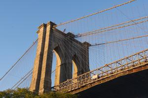The south tower of the iconic Brooklyn Bridge, New York City, New York by Greg Probst