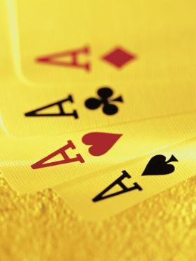 Four Aces in a Hand of Playing Cards by Greg Smith