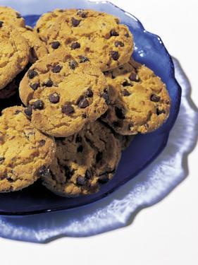 Plate of Chocolate Chip Cookies by Greg Smith